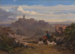 Landscape with Goatherd | Edward Lear | Oil Painting