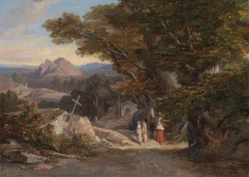 Between Olavano L'Civitella | Edward Lear | Oil Painting