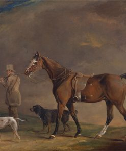 A Sportsman with Shooting Pony and Gun Dogs | Edwin Cooper | Oil Painting