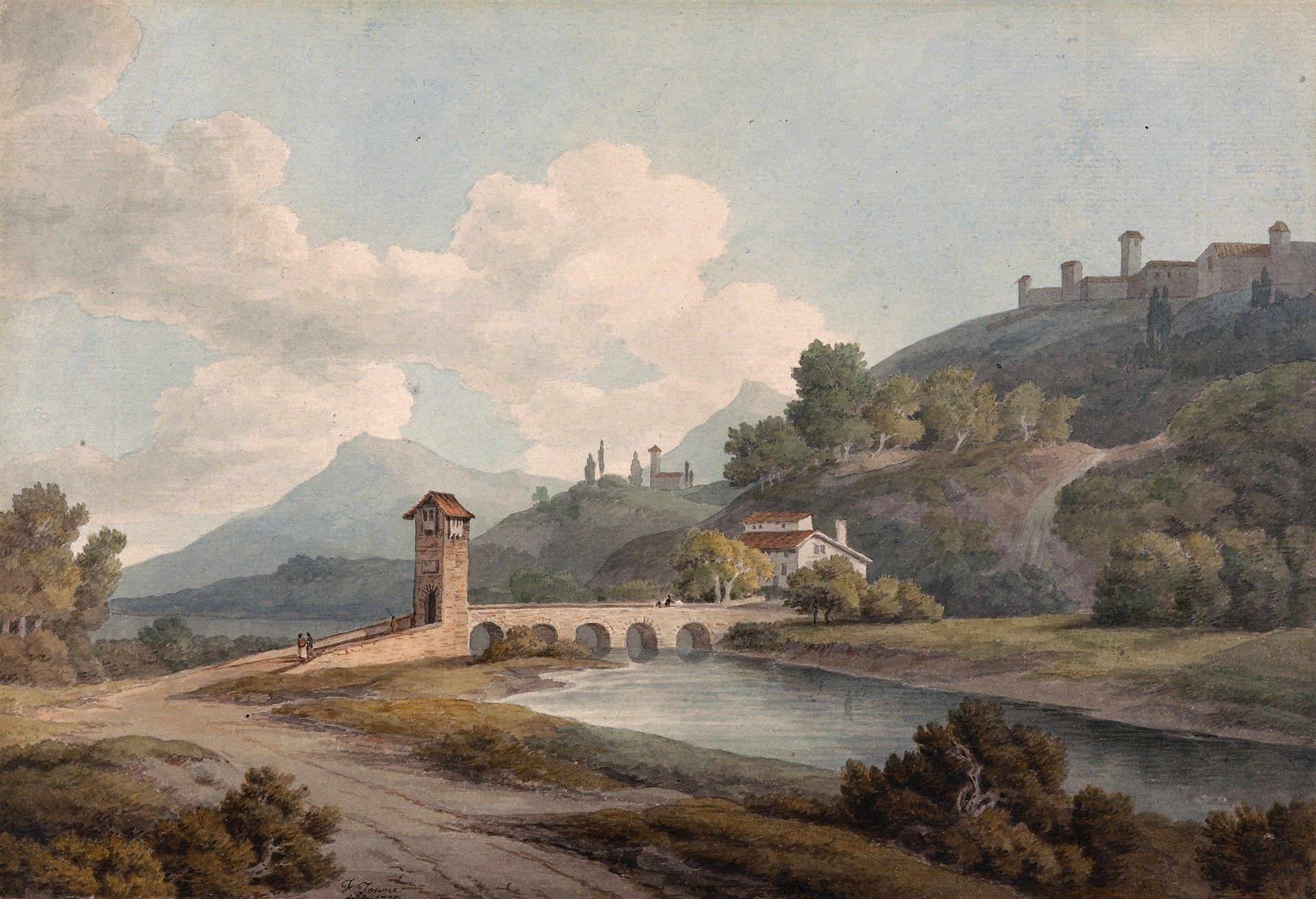 Modern Bridge at Narni | Francis Towne | Oil Painting