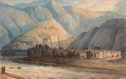 The Grange at the Head of Keswick Lake | Francis Towne | Oil Painting