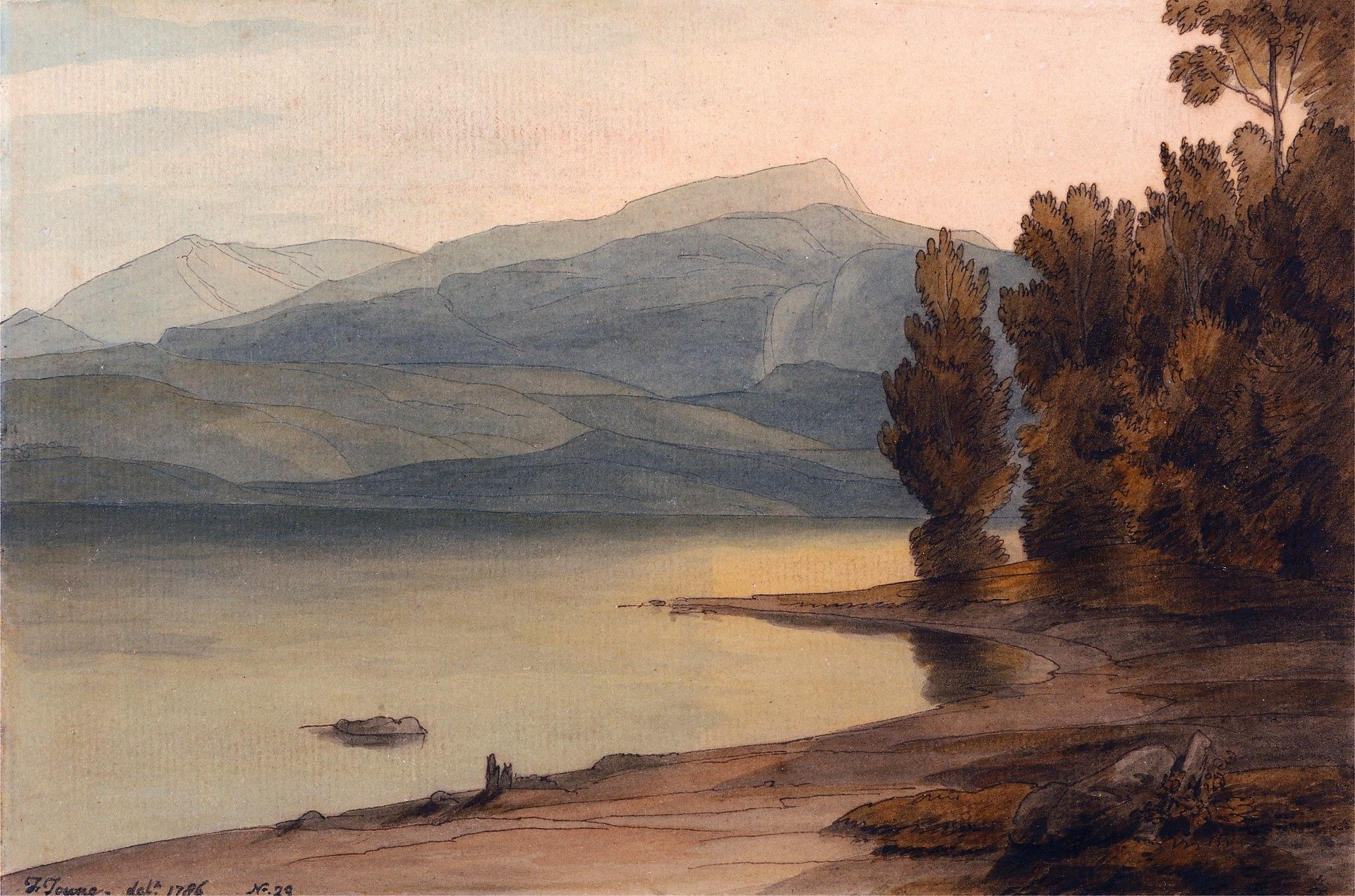 Windermere at Sunset | Francis Towne | Oil Painting