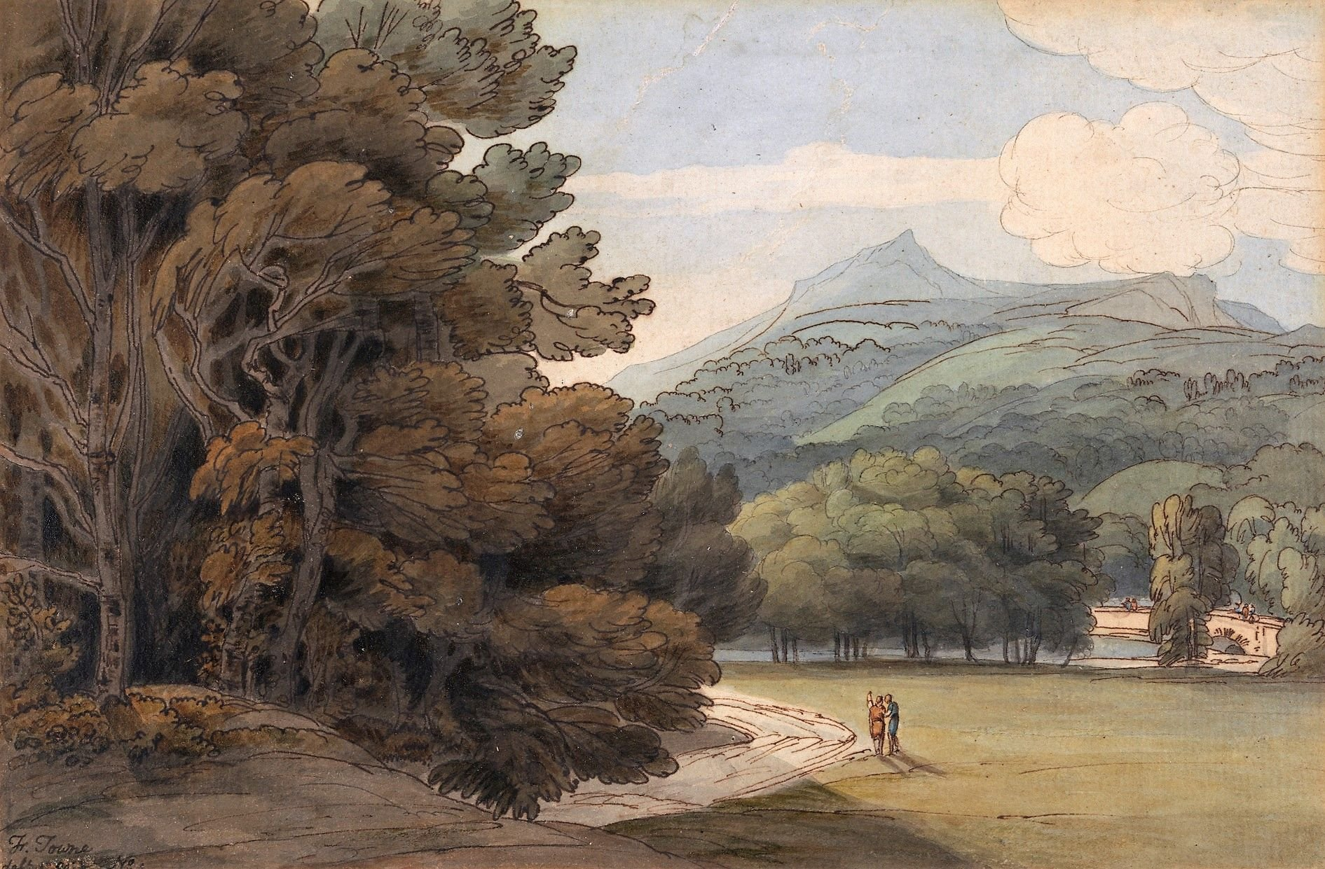 Near Ambleside   Francis Towne   Oil Painting