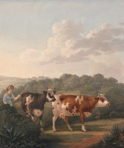 Woman with Cattle | Francis Towne | Oil Painting