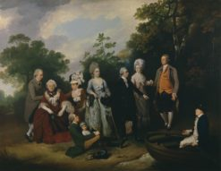 The Oliver and Ward Families | Francis Wheatley | Oil Painting