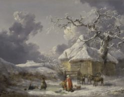 Winter Landscape with Figures | George Morland | Oil Painting
