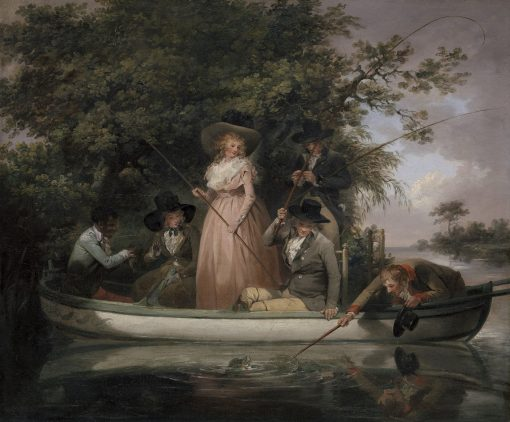 A Party Angling | George Morland | Oil Painting