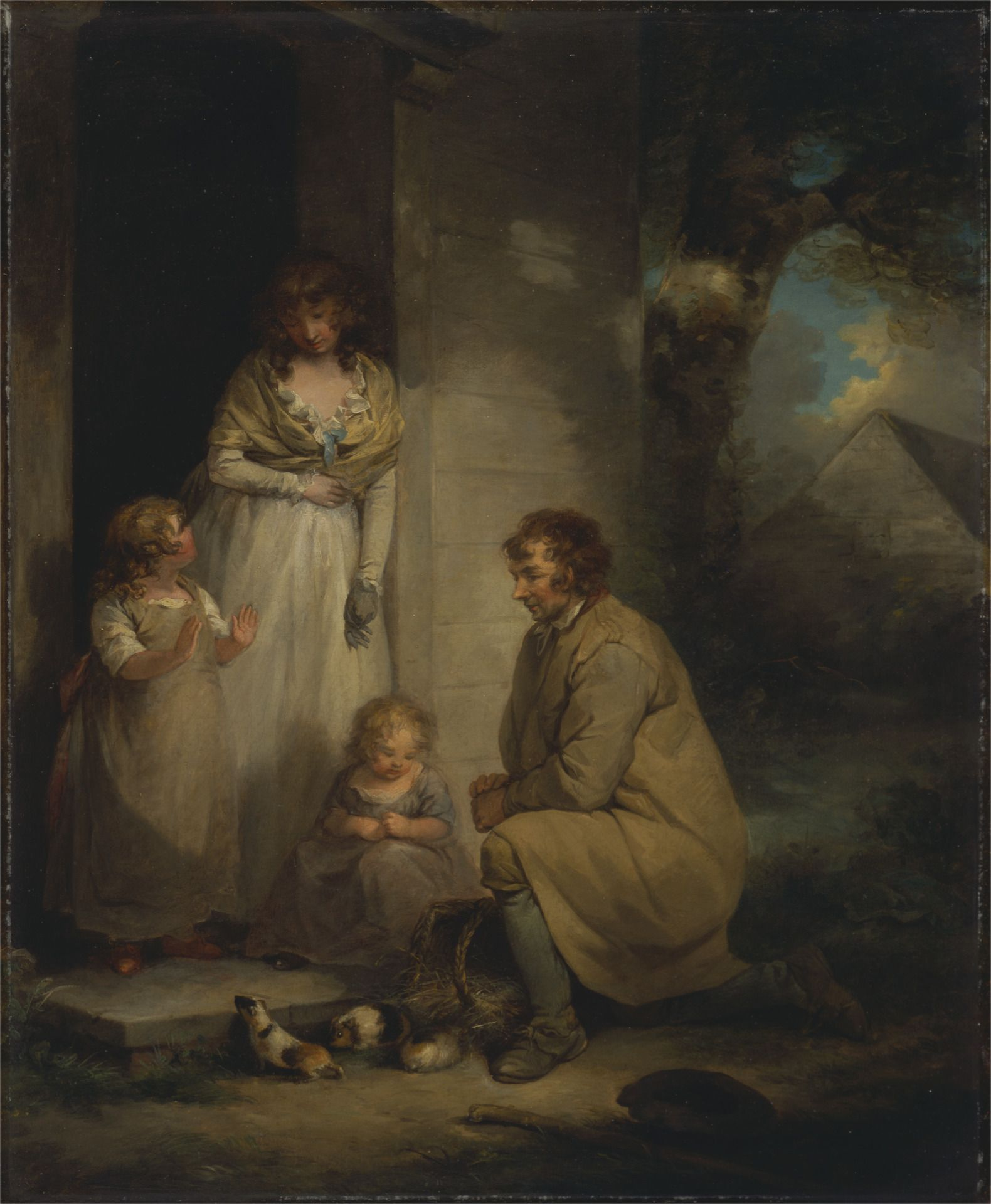 Selling Guinea Pigs | George Morland | Oil Painting