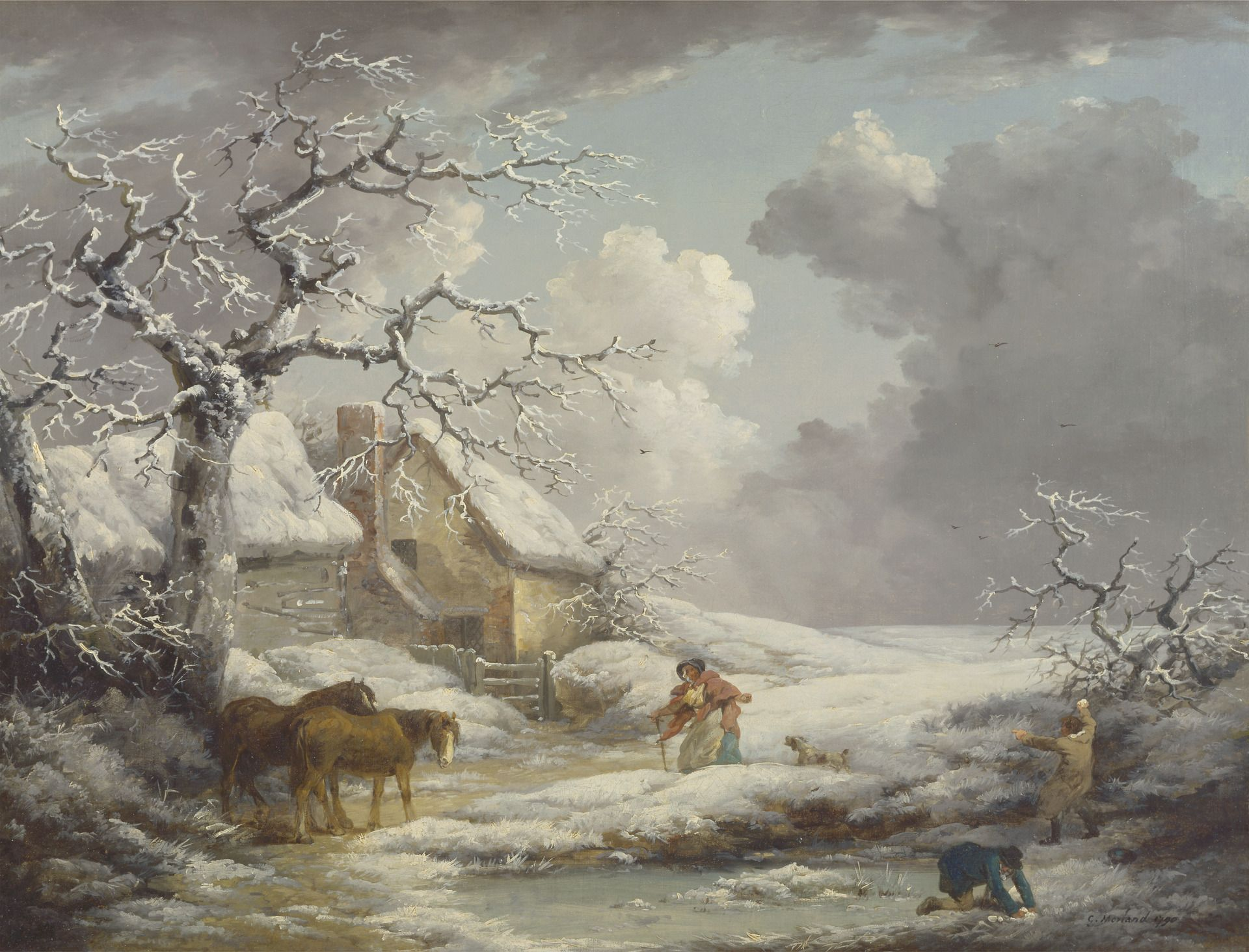 Winter Landscape | George Morland | Oil Painting