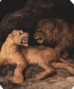 Lion and Lioness | George Stubbs | Oil Painting