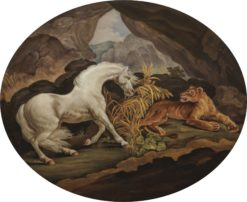 A Horse Frightened by a Lioness | George Stubbs | Oil Painting