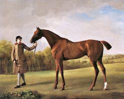 Lustre' Held by a Groom | George Stubbs | Oil Painting