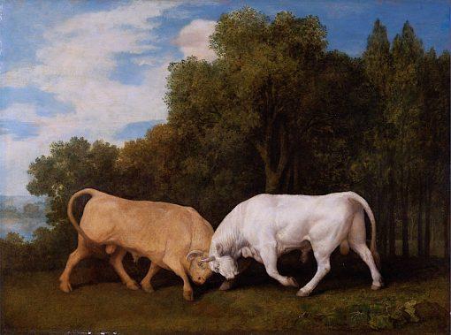 Bulls Fighting   George Stubbs   Oil Painting