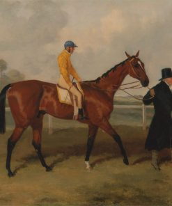 Sir Tatton Sykes Leading in the Horse 'Sir Tatton Sykes' with William Scott Up   Harry Hall   Oil Painting