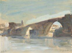 A Bridge   Hercules Brabazon Brabazon   Oil Painting
