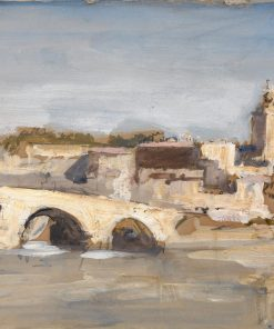 Avignon: Bridge over a River | Hercules Brabazon Brabazon | Oil Painting