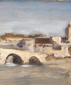 Avignon: Bridge over a River | Hercules Brabazon Brabazon | Oil Painting