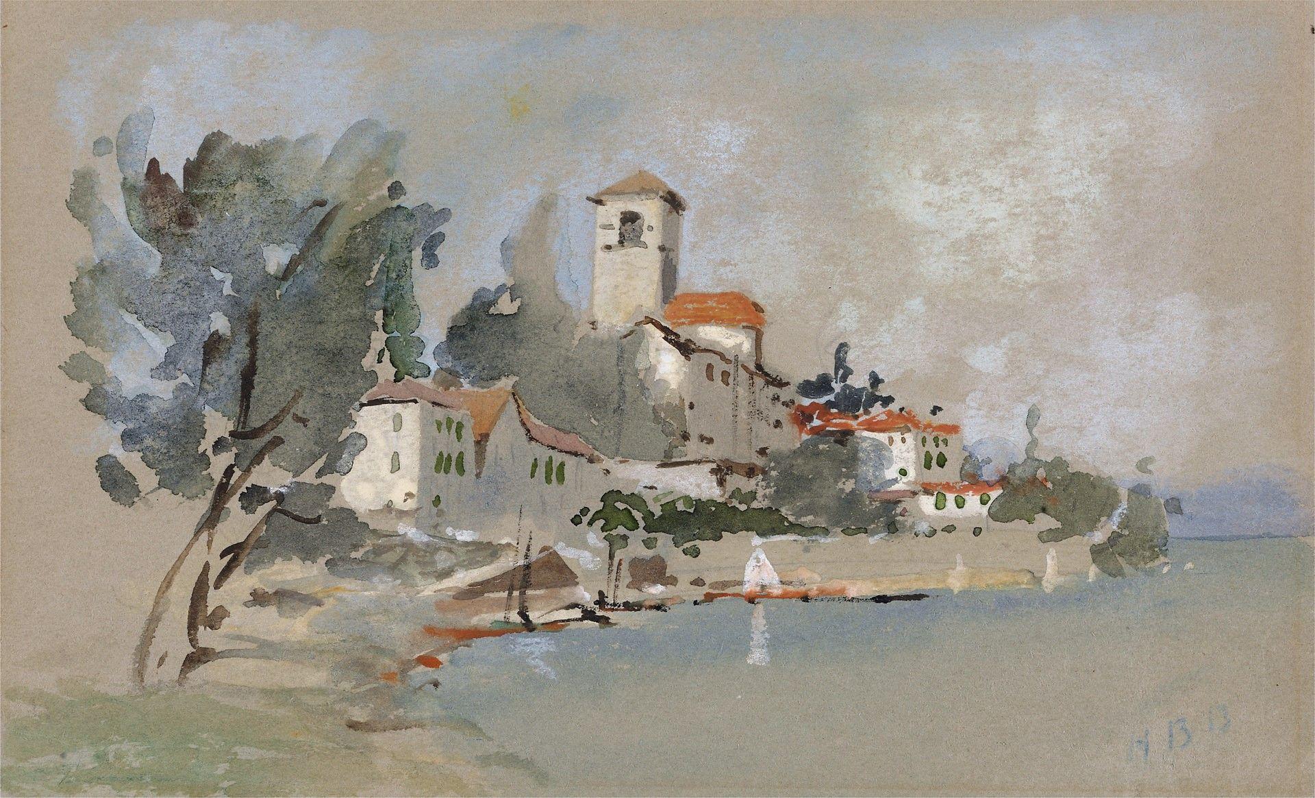 A Villa near the Sea | Hercules Brabazon Brabazon | Oil Painting