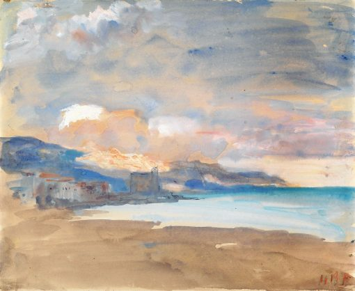 View of Nice | Hercules Brabazon Brabazon | Oil Painting