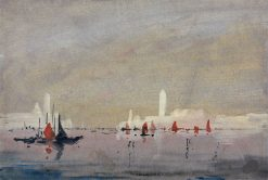 Venice from the Lagoon | Hercules Brabazon Brabazon | Oil Painting