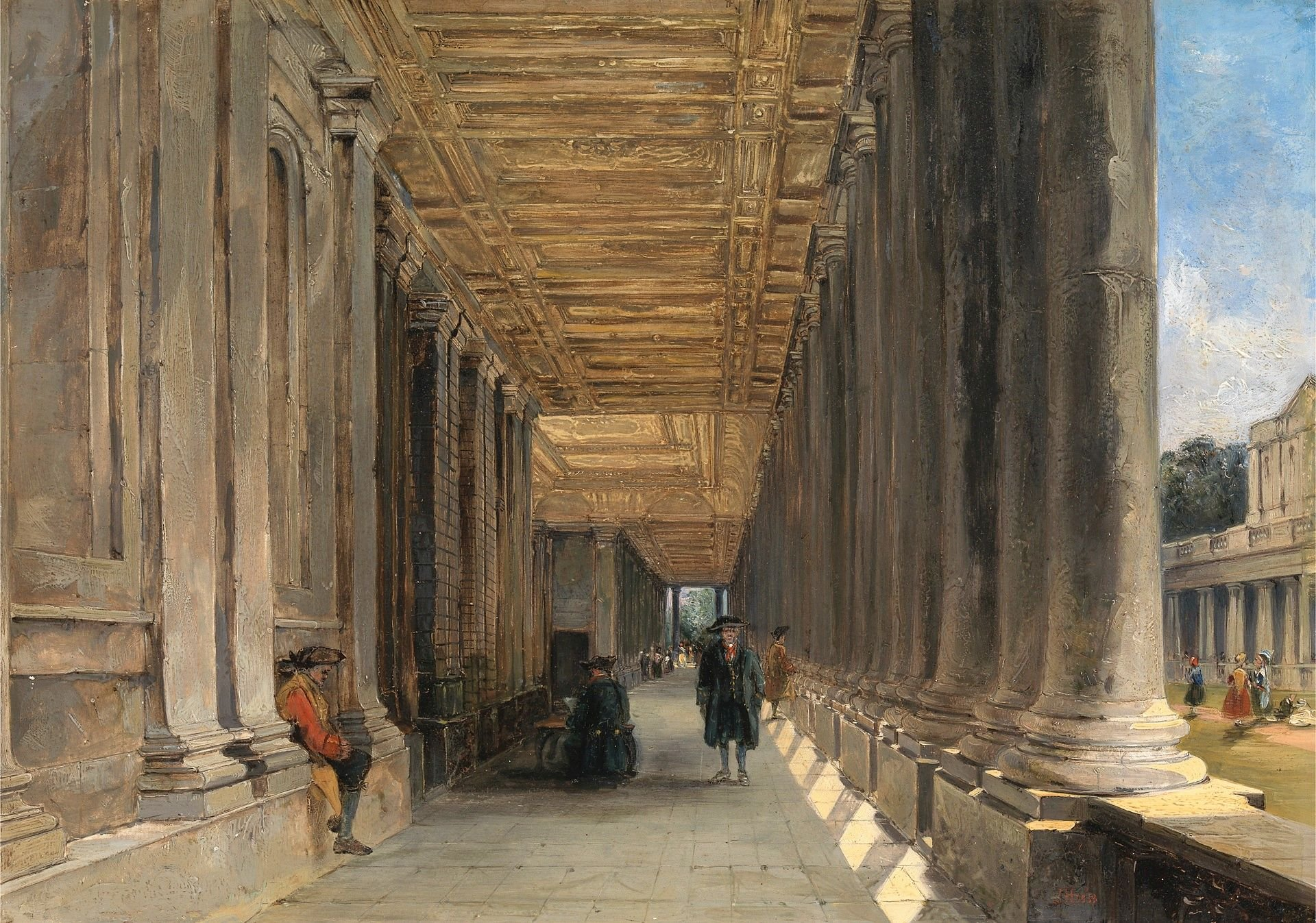 The Colonnade of Queen Mary's House