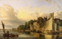 Lambeth from the River looking towards Westminster Bridge | James Stark | Oil Painting