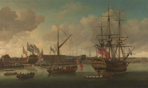 A Launching at Deptford | John Cleveley the Elder | Oil Painting