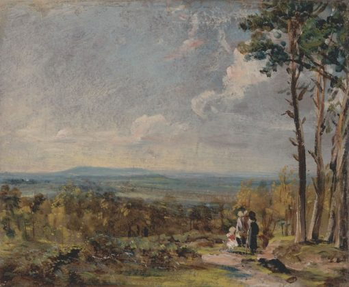 A View on Hampstead Heath with Figures in the Foreground | John Constable | Oil Painting