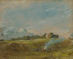 A Bonfire on Hampstead Heath | John Constable | Oil Painting