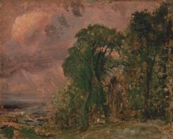 A View at Hampstead with Stormy Weather | John Constable | Oil Painting