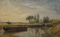 Barge below Flatford Mill(also known as Flatford Lock) | John Constable | Oil Painting