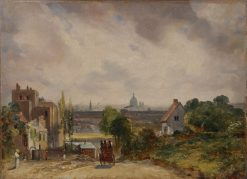 A View of London with Sir Richard Steele's House | John Constable | Oil Painting