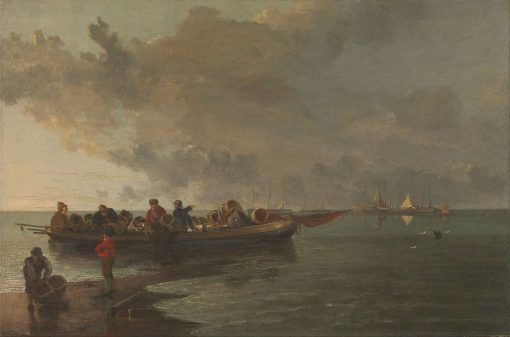 A Barge with a Wounded Soldier | John Crome | Oil Painting