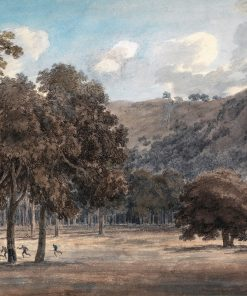 Il Parco degli Astroni - The Wooded Crater Bottom with Hunt in Progress | John Robert Cozens | Oil Painting