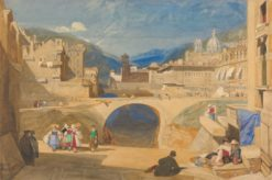 Bridge in a Continental Town | John Sell Cotman | Oil Painting
