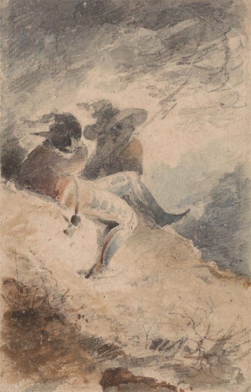 Fantastic Figures Seated on a Mound | John Sell Cotman | Oil Painting