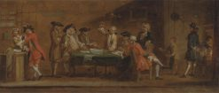 Figures in a Tavern or Coffee House   Joseph Highmore   Oil Painting