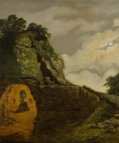 Virgil's Tomb by Moonlight | Joseph Wright of Derby | Oil Painting