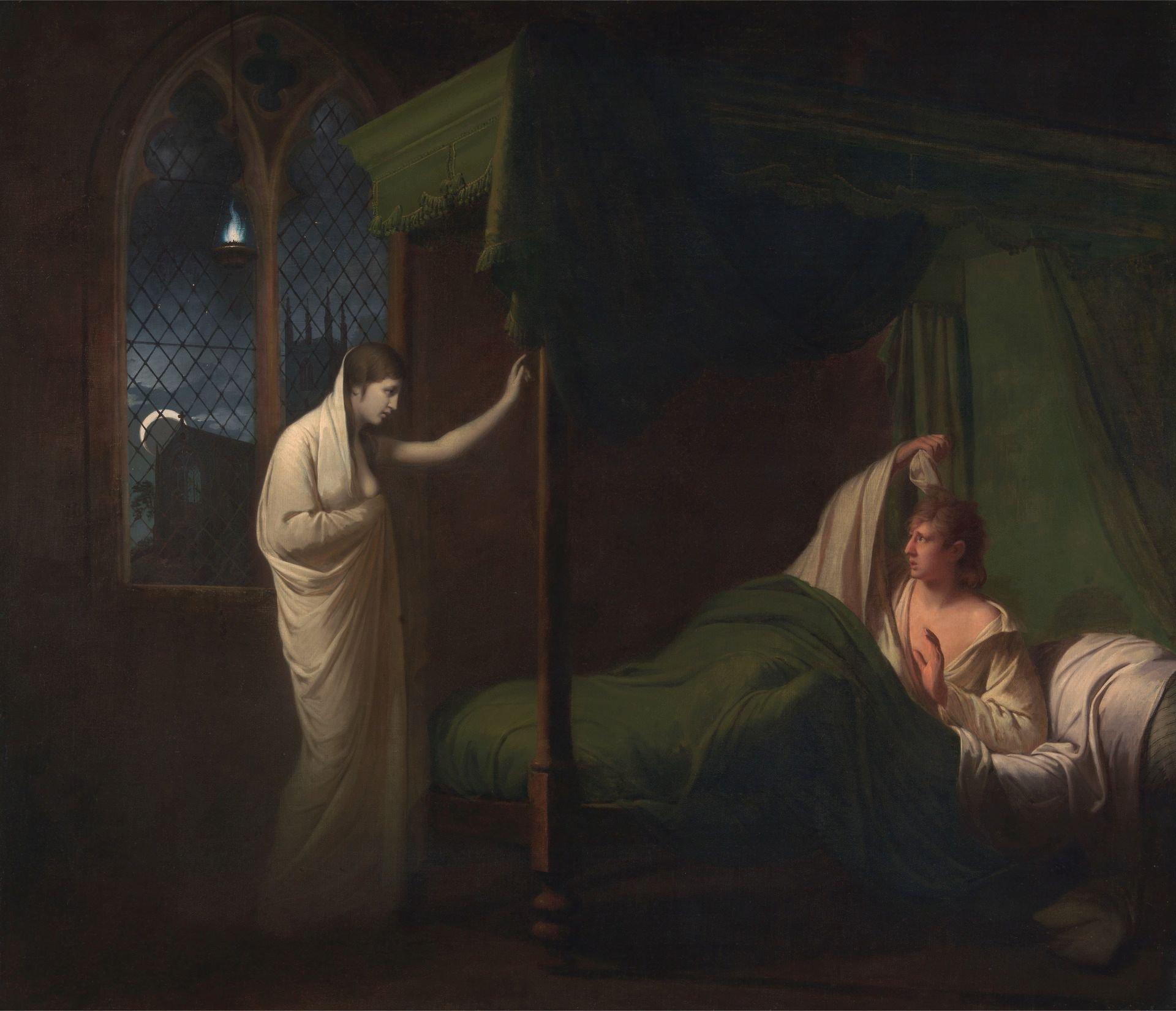 Wiliam and Margaret from Percy's 'Reliques from Ancient English Poetry' | Joseph Wright of Derby | Oil Painting