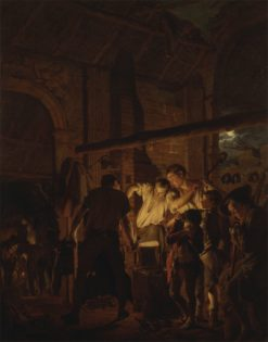 The Blacksmith's Shop | Joseph Wright of Derby | Oil Painting