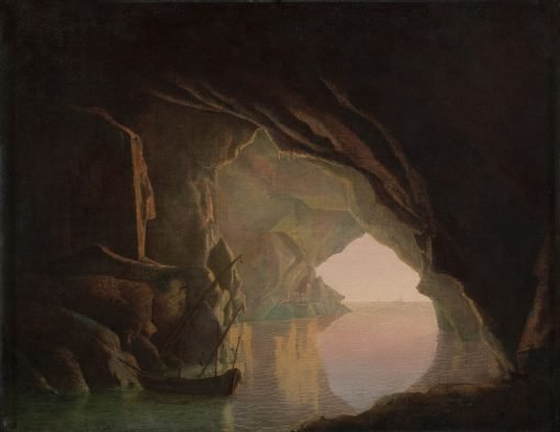 A Grotto in the Gulf of Salerno at Sunset | Joseph Wright of Derby | Oil Painting