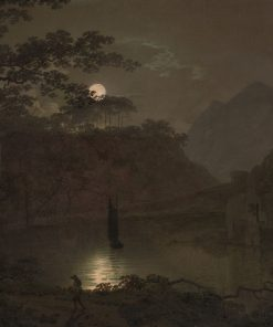 A Lake by Moonlight | Joseph Wright of Derby | Oil Painting