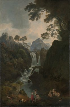 A Waterfall with Bathers | Julius Caesar Ibbetson | Oil Painting