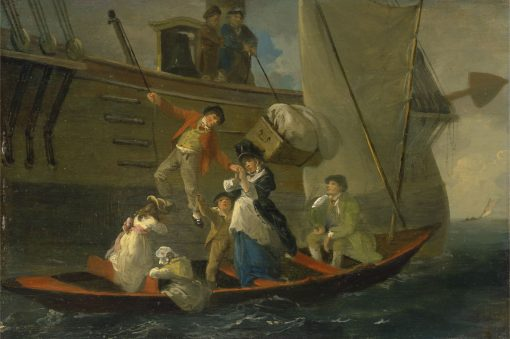 A Married Sailor's Adieu   Julius Caesar Ibbetson   Oil Painting