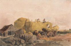 Building a Hayrick | Peter de Wint | Oil Painting