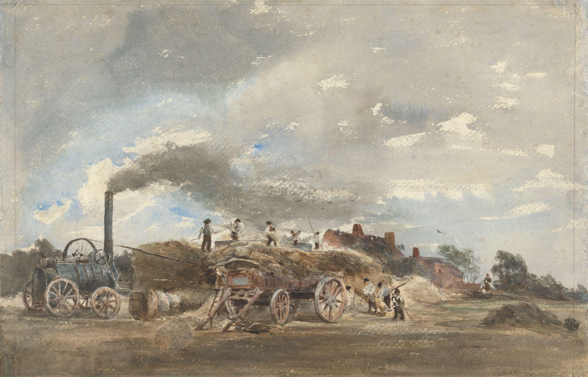 Threshing Corn | Peter de Wint | Oil Painting