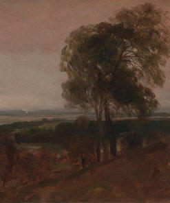Landscape Study at Sunset   Peter de Wint   Oil Painting