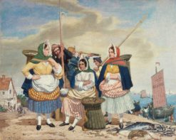 Fish Market by the Sea   Richard Dadd   Oil Painting