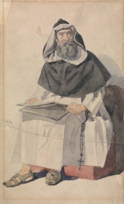 Portrait of a Monk | Richard Dadd | Oil Painting
