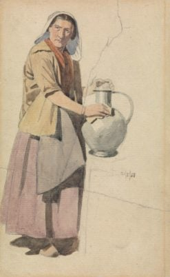 Portrait of a Woman with a Pitcher   Richard Dadd   Oil Painting